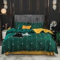 svetanya silkly egyptian cotton 600tc bedding set printed linens sheet pillowcase duvet cover