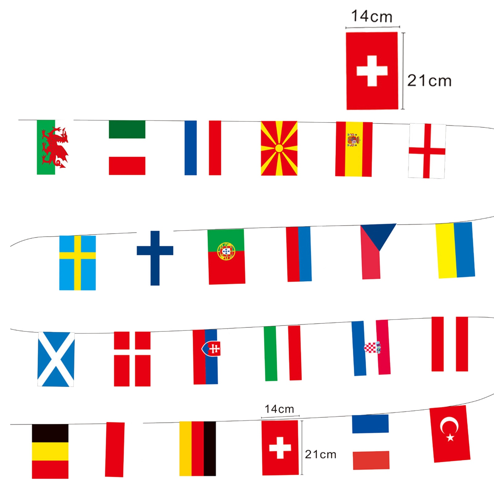 String Hanging Flag Football Soccer 24 Team National Flag Country World Banner Bunting Europe Countries Flag Euro Cup 14*21cm 201 countries flag national flag symbol fridge magnets combine order accept wholesale business souvenirs