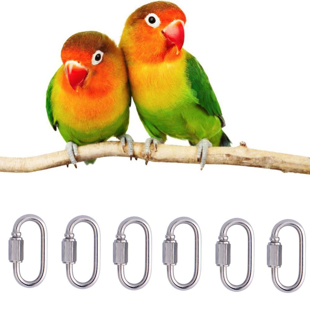 6 pcs 앵무새 장난감 부품 후크 만들기 애완 동물 조류 교수형 케이지 액세서리 공급