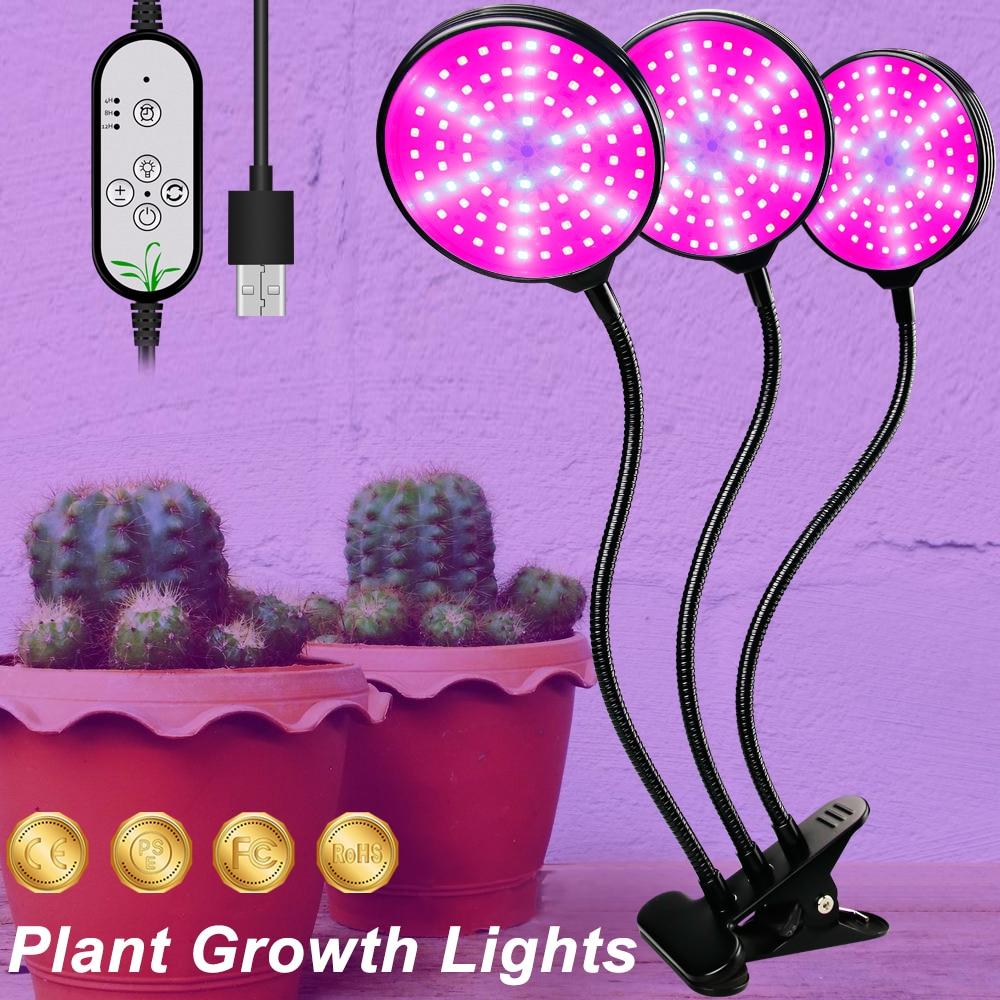 USB LED Grow Light 5V LED Grow Light Full Spectrum For Plants Lamp Aquarium For LED indoor Vegetable Flower seedling Grow Tent