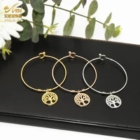 aniid fashion tree of life bracelet stainless steel coff bangles for women charm jewelry gold designer wholesale party gifts