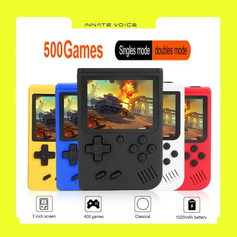 ZK50 Macaron Gamepads Toys Portable Retro Console 3.0 inch Gamepad with 500 Built-in Games5 Color Classic Game Player Gifts