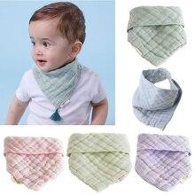 Baby Bibs 6 Layers Gauze Boys Girls Bandana Burp Cloth Cotton Baby Triangle Scarf Newborn Feeding Sa