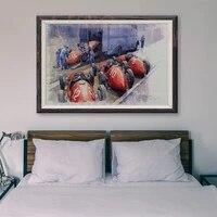 Peinture classique de voiture de course rouge retro T169  affiche en soie personnalisee 62  decoration murale  cadeau de noel