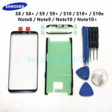 Сменное внешнее стекло для Samsung Galaxy S8 S9 S10 Plus S10e Note 8 9 10 + ЖК дисплей сенсорный экран Переднее внешнее стекло объектив