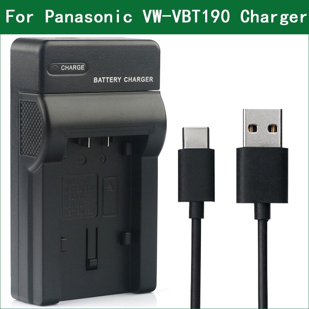 LANFULANG VW-VBT190 VW VBT190 VW-VBT380 batería cargador para Panasonic HC-V210 HC-V230 HC-V250 HC-V260 HC-V530 HC-V550