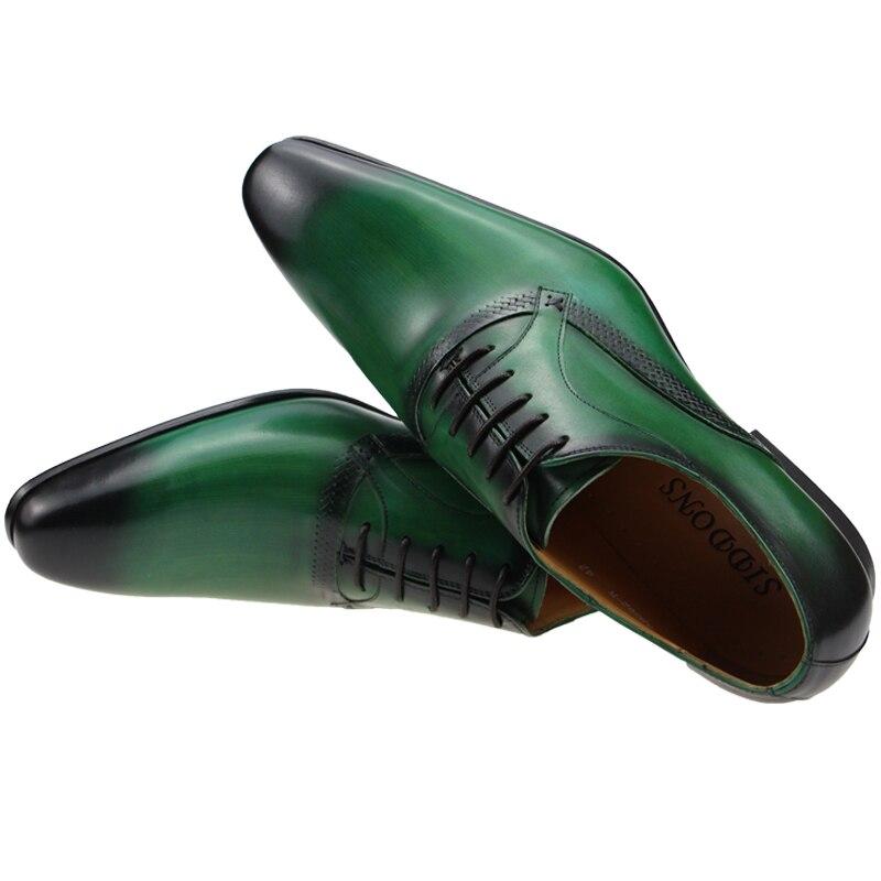 رجل أحذية رسمية 2021 جلد طبيعي مكتب فستان أكسفورد Sapato الاجتماعية Masculino موضة جديدة الذكور الدانتيل يصل حذاء للرجال ABS01-W