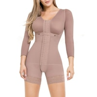 Women\'s Seamless Girdle Zipper Full Body Shaper Plus Size Bodysuit Post Surgery Firm Shapewear Colombian Tummy Control Slimming