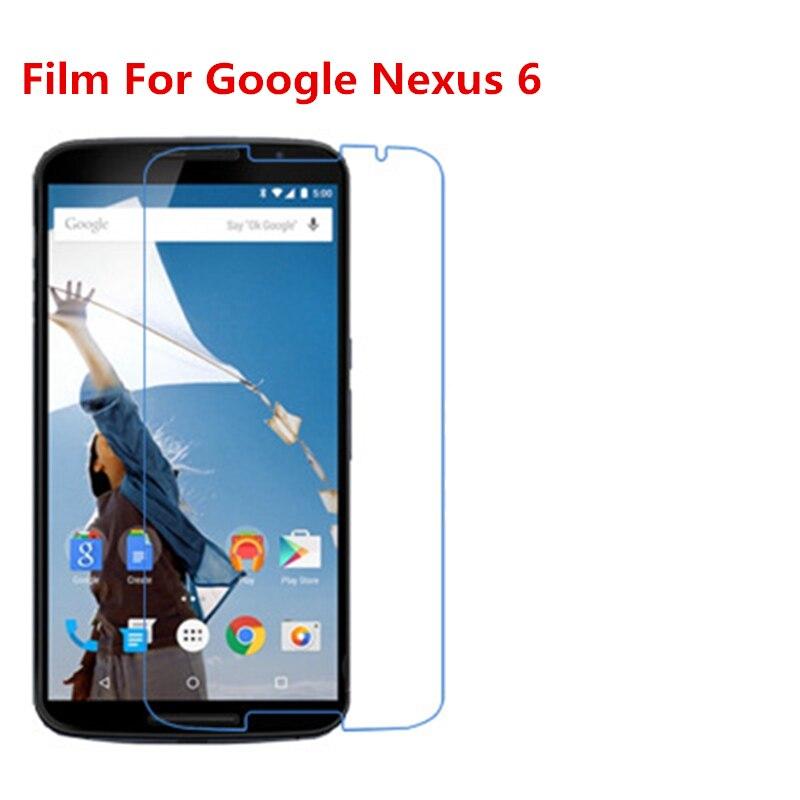 1/2/5/10 Uds película protectora de pantalla LCD HD transparente Ultra delgada con película de paño de limpieza para Google Nexus 6.