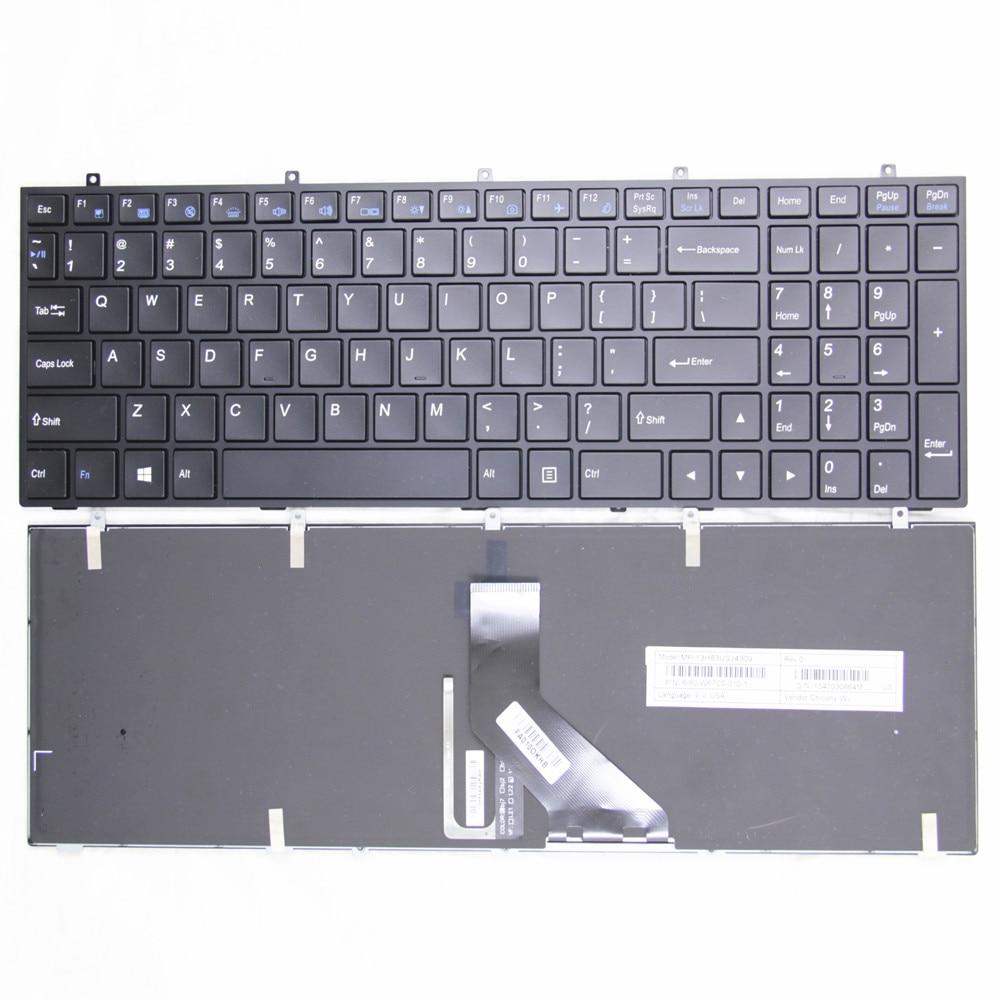 جديد الولايات المتحدة الإنجليزية لوحة مفاتيح الكمبيوتر المحمول الأصلي ل Hasee K650C K590S K590C K650S K790S K710C K760 الخلفية لوحة المفاتيح MP-13H83USJ4309