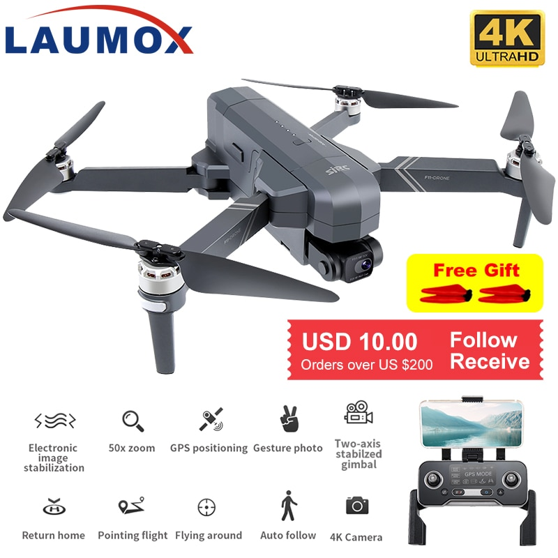 SJRC F11 4K PRO Drone GPS 5G WiFi 2 Axis Gimbal With HD Camera FPV Professional RC Foldable Brushles
