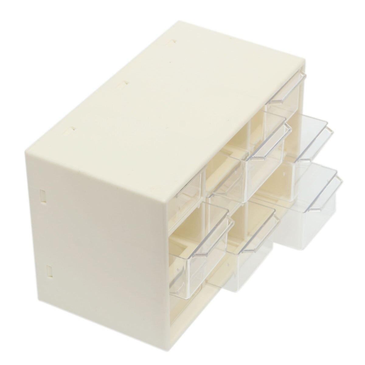 Пластиковая 9 решетчатая портативная мини-коробка для хранения ювелирных изделий Шкафы для мусора решетки Портативный Amall сортировочный выдвижной ящик сетка Настольные принадлежности