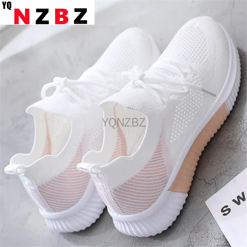 Summer Women Shoes Mesh Light Breathable Women Sneakers Flats Casual Female Trainers Walking Shoes Zapatillas Mujer 2021 women casual flats shoes female hollow breathable mesh summer women s sneakers ladies sneakers women shoes shoes women