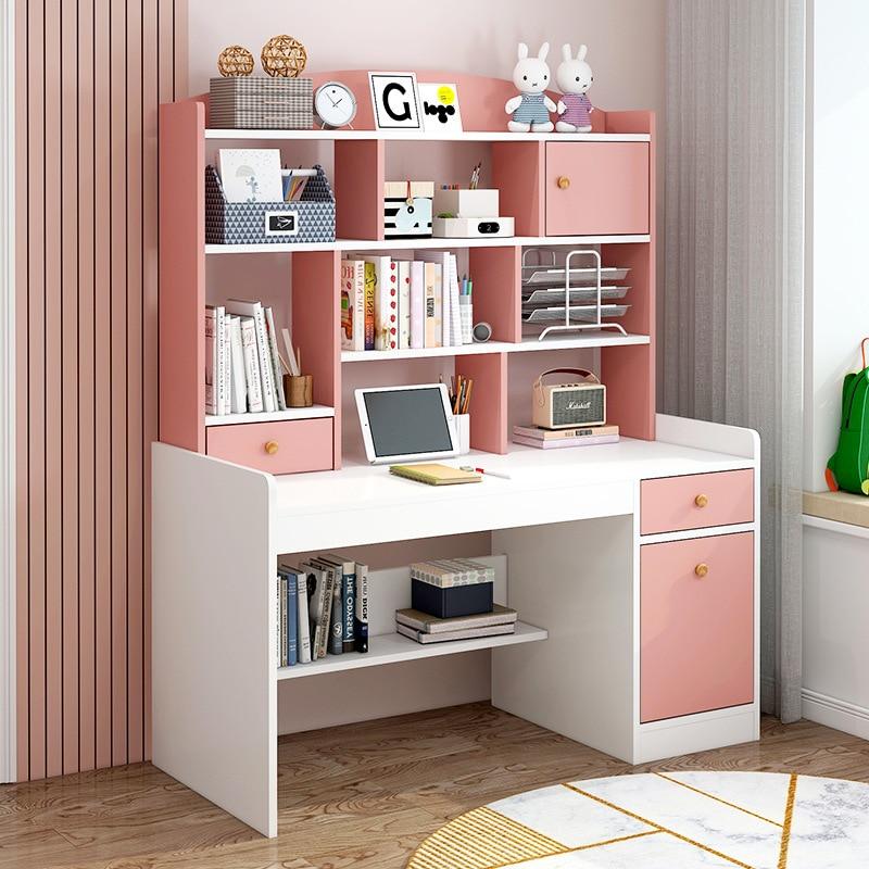 Детский письменный стол, книжный шкаф, ученический письменный стол, письменный стол, простой компьютерный стол для спальни, детская книжная...