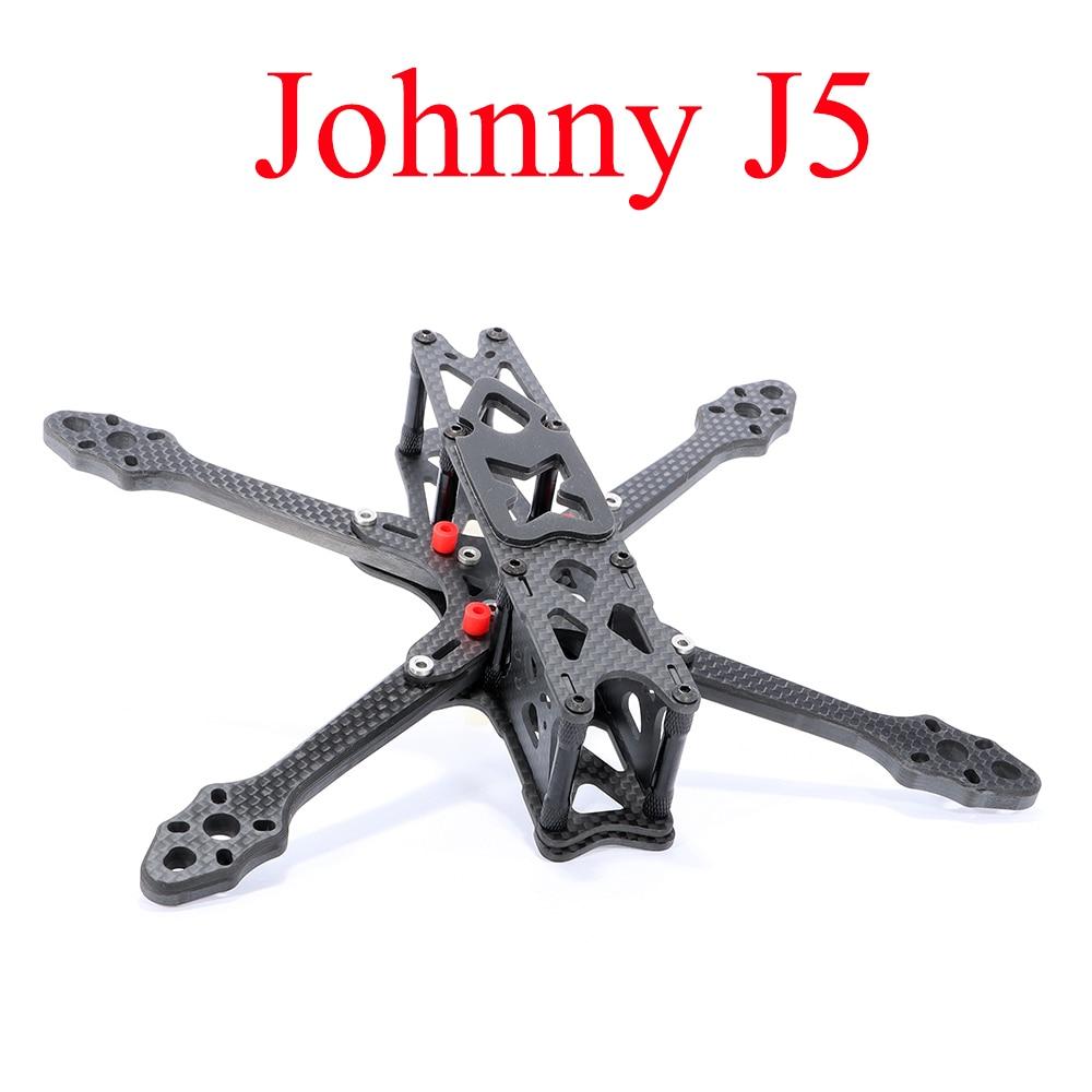 AstroX جوني J5 رف جديد الأصلي 215 مسبقا صدمة امتصاص الكربون الألياف إطار كيت 5.5 مللي متر الذراع ل RC الطائرة بدون طيار الغيار أجزاء DIY