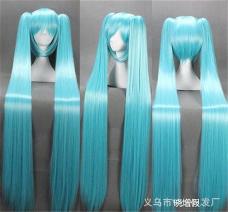 120cm longueur perruques Cosplay perruque VOCALOID Hatsune Miku déguisement jouer perruque Halloween Anime cheveux