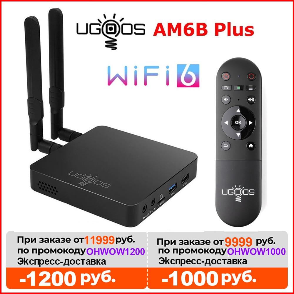 UGOOS AM6B Plus Wifi 6 Smart Android TV BOX Android 9.0 Amlogic S922X-J DDR4 4GB 32GB BT 1000M 4k TVBOX Media Player Set top box