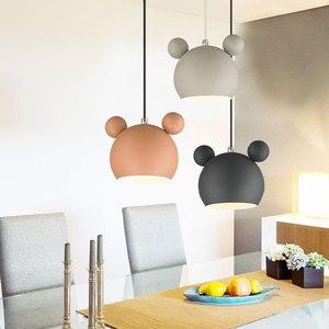 Wrought Iron Cute Small Chandelier Dining Room Lamp Cartoon Children's Bedroom Bedside  Nordic Modern Lighting Room Decor