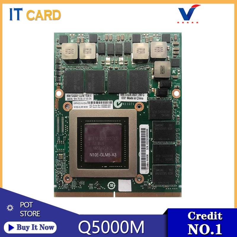 Quadro 5000M Q5000M Q5000 GDDR5 2GB Video Scheda grafica N10E-GLM5-A3 Con X-Staffa Per HP 8740W 8760W DELL M6600 100% di Prova Ben
