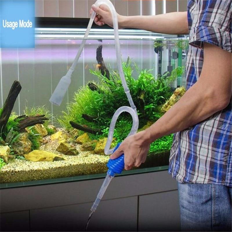 1Pc Semi-automatic Aquarium Clean Vacuum Water Change Changer Gravel Aquarium Simple Fish Tank Vacuum Siphon Pump Cleaner
