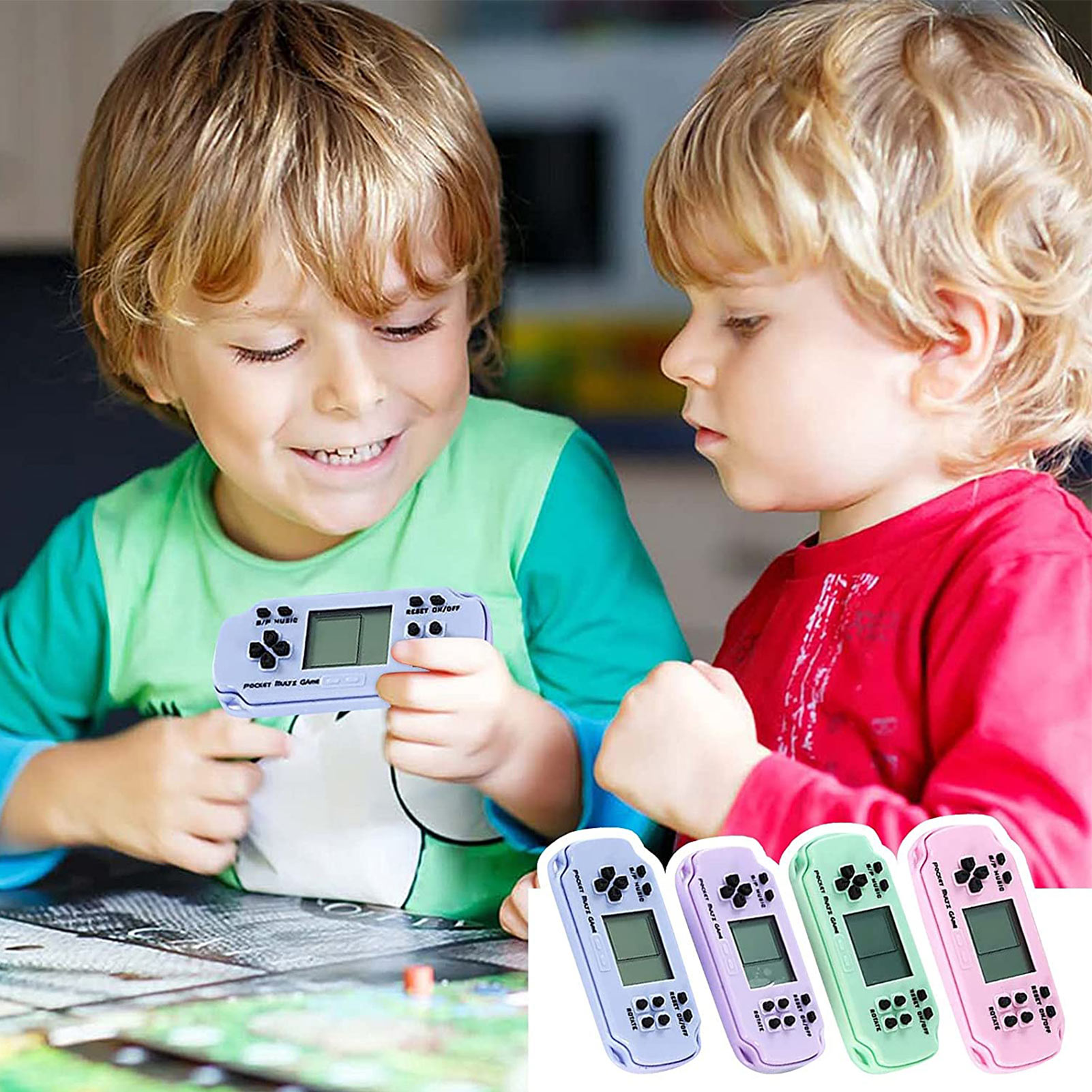 Мини игровая консоль, портативная игровая консоль в стиле ретро, игровой плеер для детей и взрослых, портативный игровой приставка для дете...