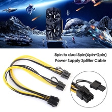 PCI-E 8 Pin to Dual 8 (6+2) Pin Power Cable GPU Graphics Card 8Pin to Dual 8Pin PCI Express Power Su
