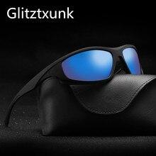 Glitztxunk lunettes de soleil polarisées   Carré, lunettes de sport classiques pour hommes, marque Design, nouvelle mode conduire lunettes de soleil