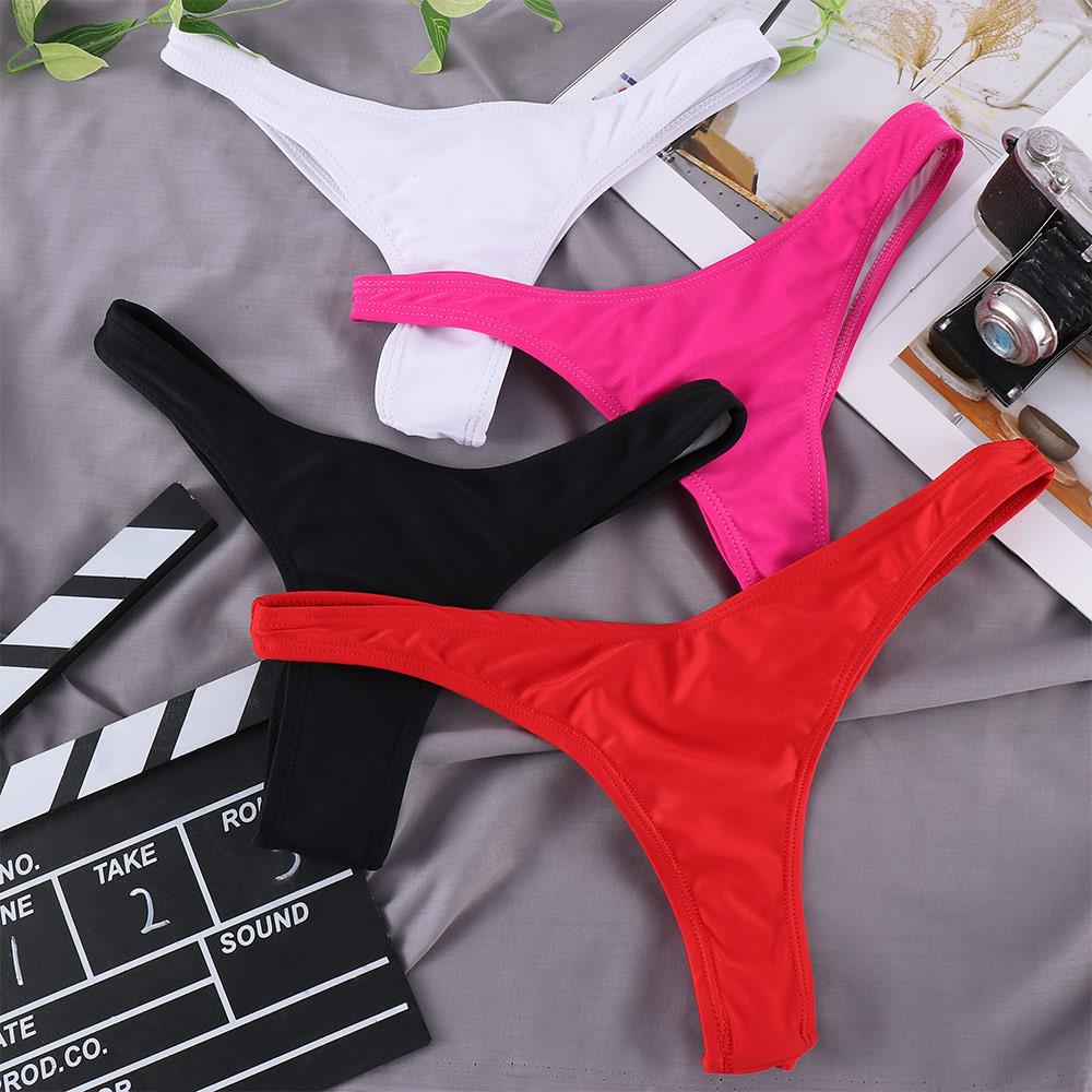 Classic Cut Short Bottoms Biquini Swim Ladies Swimsuit Women Briefs Bikini Bottom Side Ties Brazilia