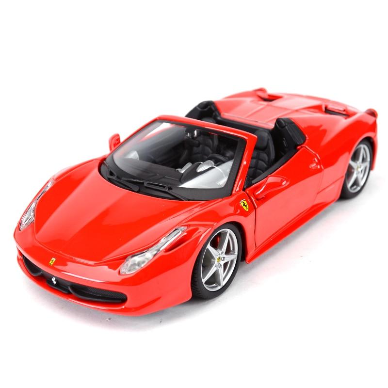 Фото - Bburago 1:24 Ferrari 458 Spider Sports Car Static Die Cast Vehicles Collectible Model Car Toys bburago 1 24 audi rs5 coupe sports car static die cast vehicles collectible model car toys