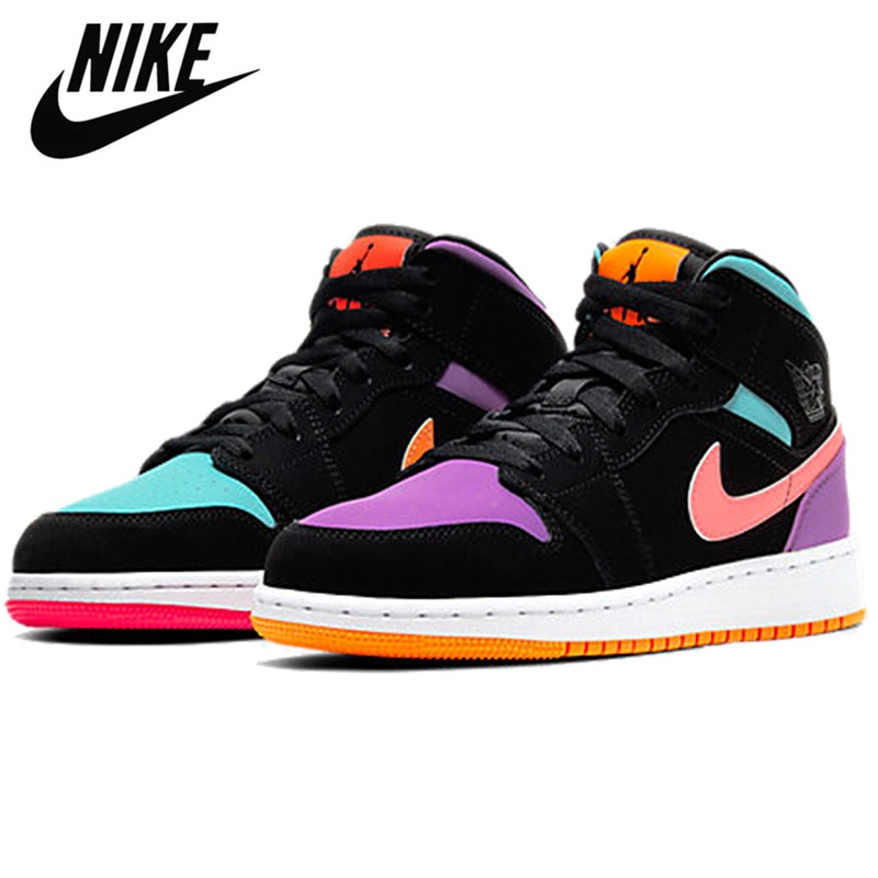 Nike - Air Jordan Retro 1 Mid AJ1 for Men and Women Authentic and Comfortable Basketball Shoes