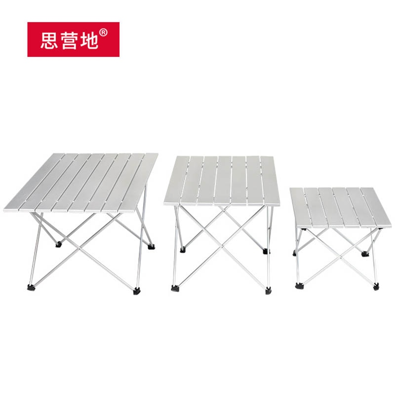 Mesa plegable ultraligera, portátil, para acampar, playa, barbacoa, Mesa compacta de pícnic,...