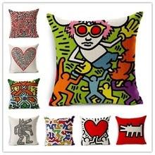 Graffiti Stil PaintingPrinted Bett Sofa Kissen Abdeckung Hause Dekorative Werfen Kissen Fundas Para Almofadas Cojines