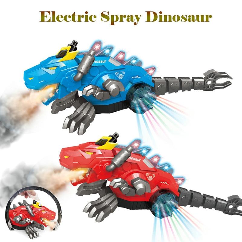 Spray Mechanical Dinosaur with Light Sound Electronic Intelligent Walking swing Cute animal Model Dancing dinosaurio Kids Toys