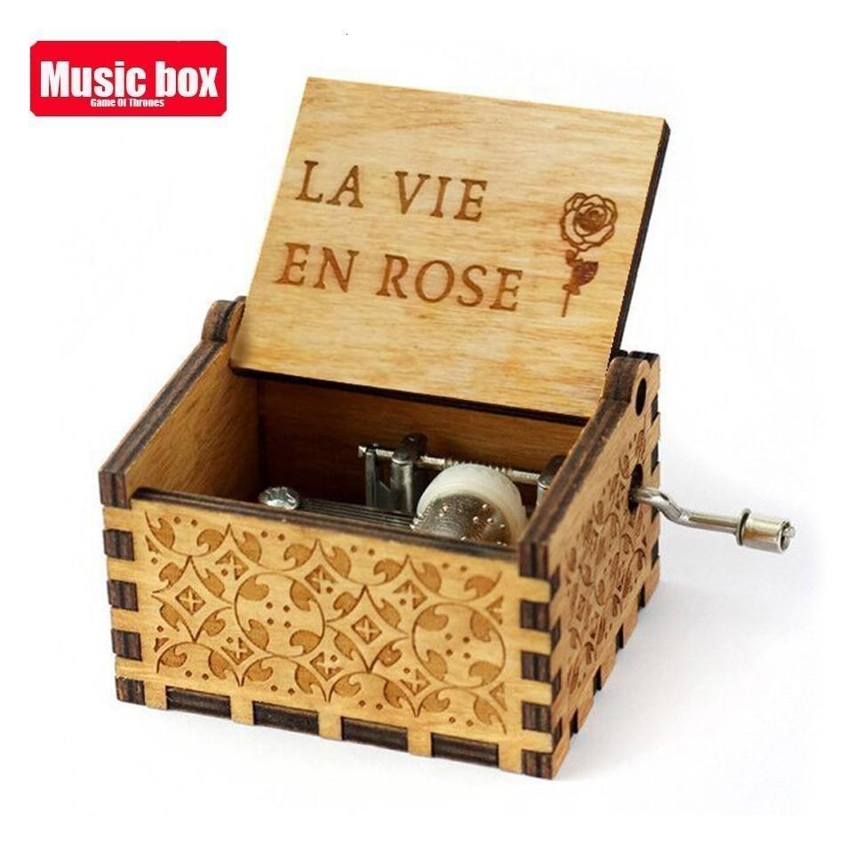 Музыкальная шкатулка с ручками La Vie En из розового дерева, игра королевы престолов «Звездные войны», музыкальная тема «Ты мой солнечный свет, луна, река»