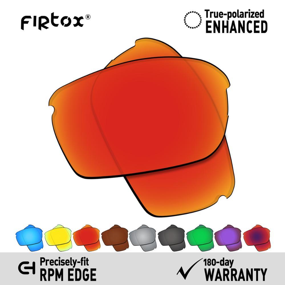 Firtox verdadeiro uv400 lentes polarizadas substituição para-oakley rpm edge oo9205 óculos de sol (lente compatível apenas)-várias cores