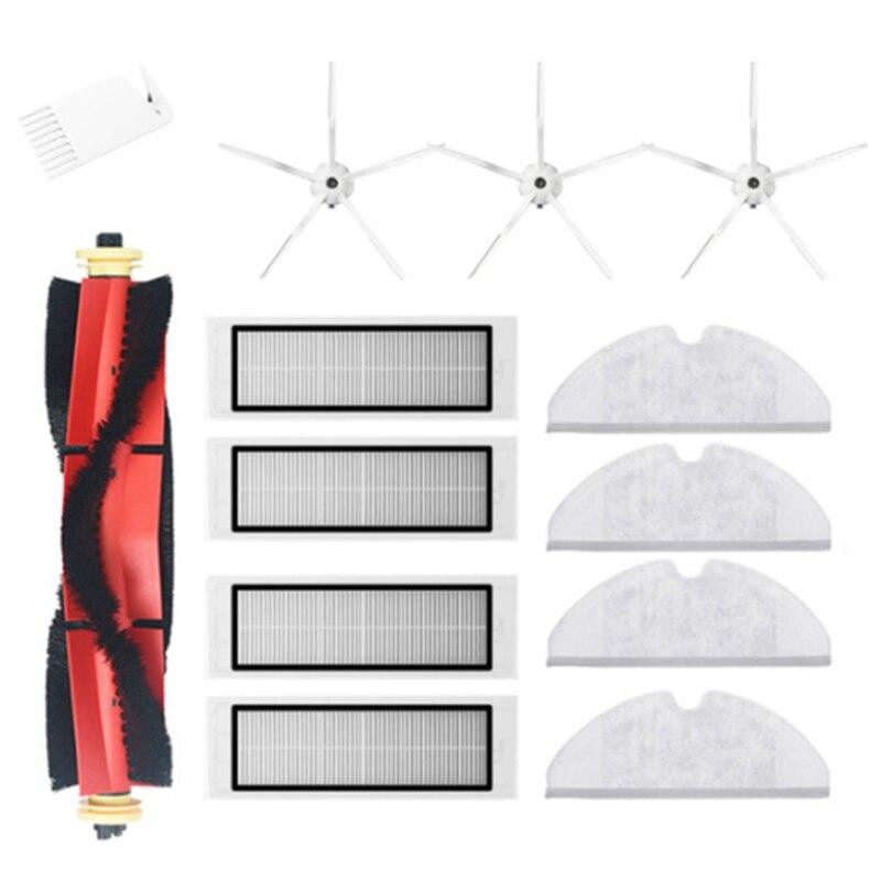 خمسة الأسلحة الجانب فرشاة تصفية أطقم فرشاة الرئيسية ل شاومي Roborock S5 ماكس S6 S60 S65 E35 مكنسة كهربائية اكسسوارات الغيار
