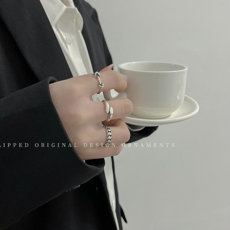 Hiphop-Anillo de dedo ajustable Retro bobinado, Vintage, Punta abierta, Red de moda...