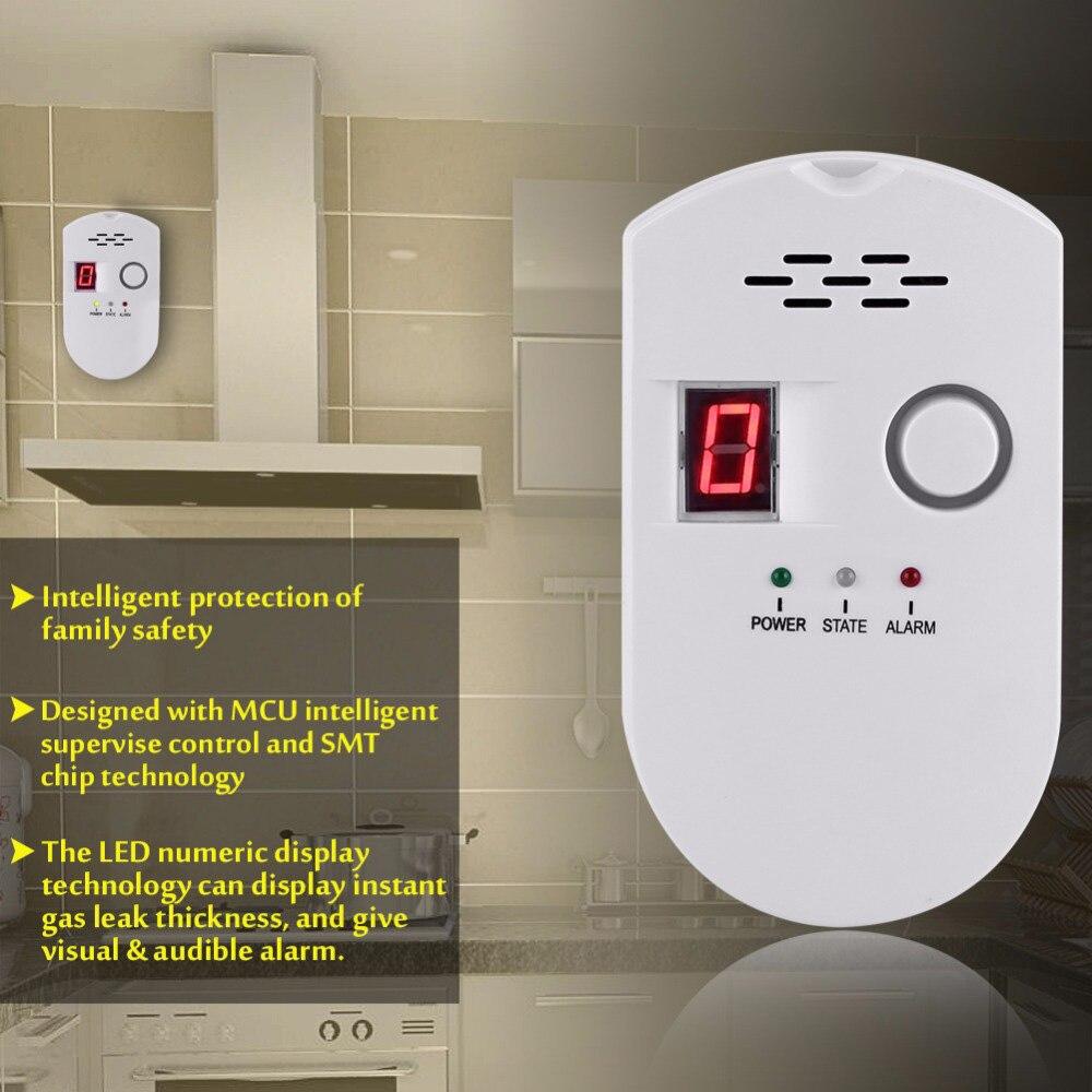 Gas Detector LPG City Natural Gas Combustible Methane Propane Alarm Plug-in Gas Sensor Carbon Monoxide Poisoning Alarm Detector