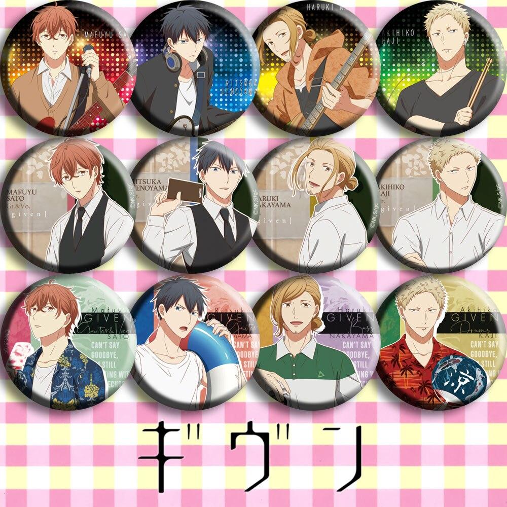1pc dado anime emblemas uenoyama ritsuka nakayama haruki sato mafuyu acrílico bagdes ícones broche diy