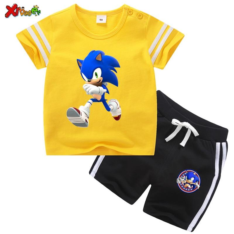 children boys clothing set Toddler Baby Suits kids Sets fashion 2020 Summer 2 pcs Girls Clothes Set cool T Shirt  Boy Outfit 6t