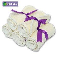 Miababy 5/10 Pcs 4 Lagen Bamboe Katoen/Badstof Luier Insert Wasbare Doek Nappy Voor Baby Luiers 35*13.5Cm Baby Luier