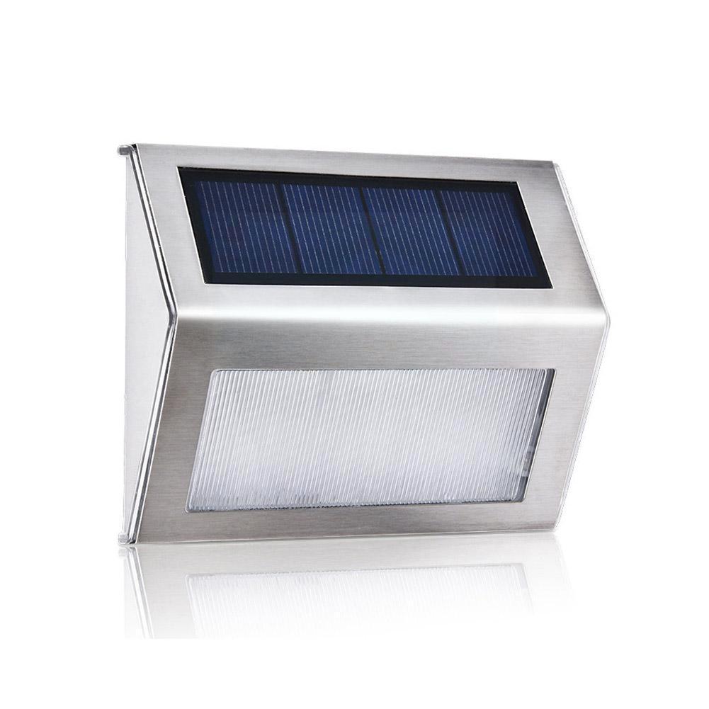 Наружный стальной светодиодный светильник на солнечной батарее для лестницы, водонепроницаемый светильник для забора на солнечной батаре...
