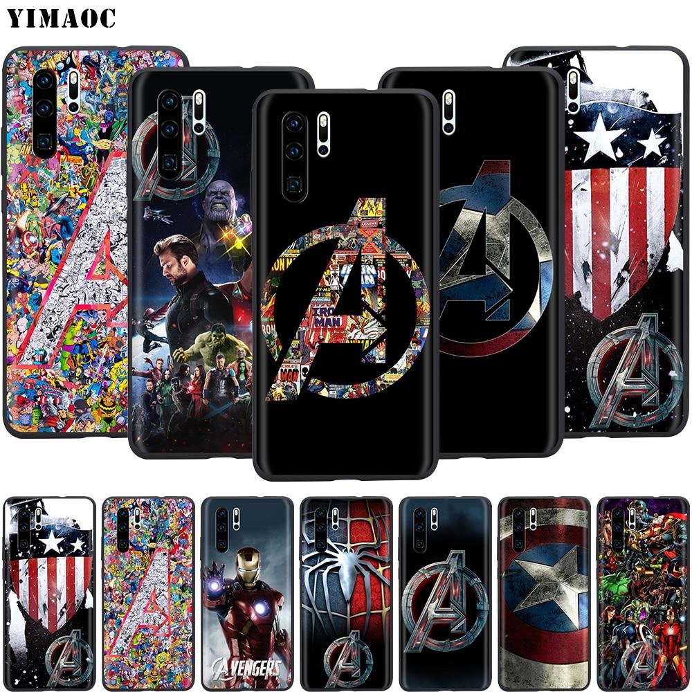 Funda de silicona YIMAOC Avenger para Huawei Mate 10, P8, P9, P10, P20 Lite Pro, Y7, Y9, Smart Mini 2017, 2018