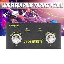 Cubo página inalámbrica Turner Pedal para tabletas Ipad App controles Manos libres Página de lectura incorporado batería recargable giro Pedal