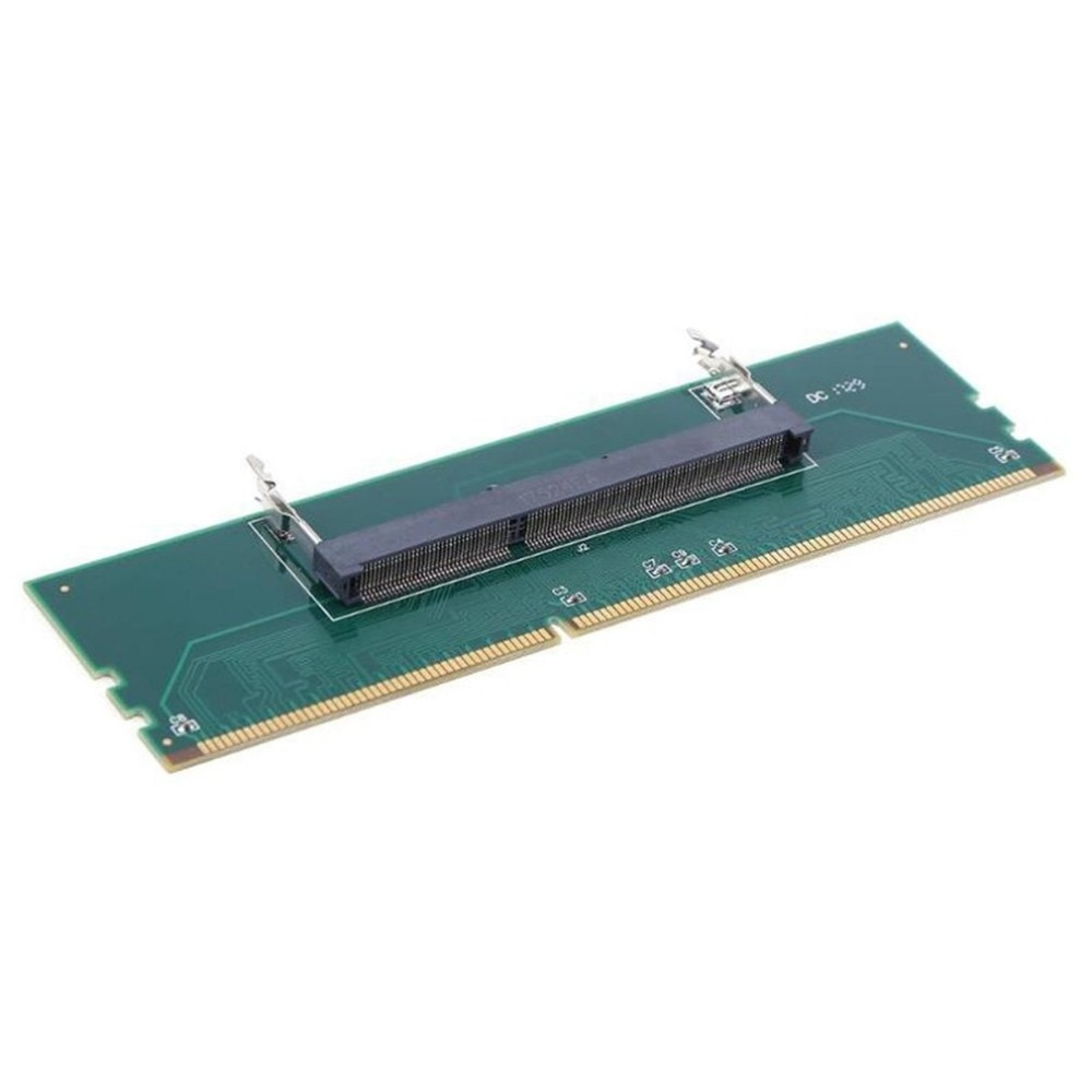 Green DDR3 Laptop SO DIMM to Desktop DIMM Memory RAM Connector Adapter Card Useful Computer Component Supplies