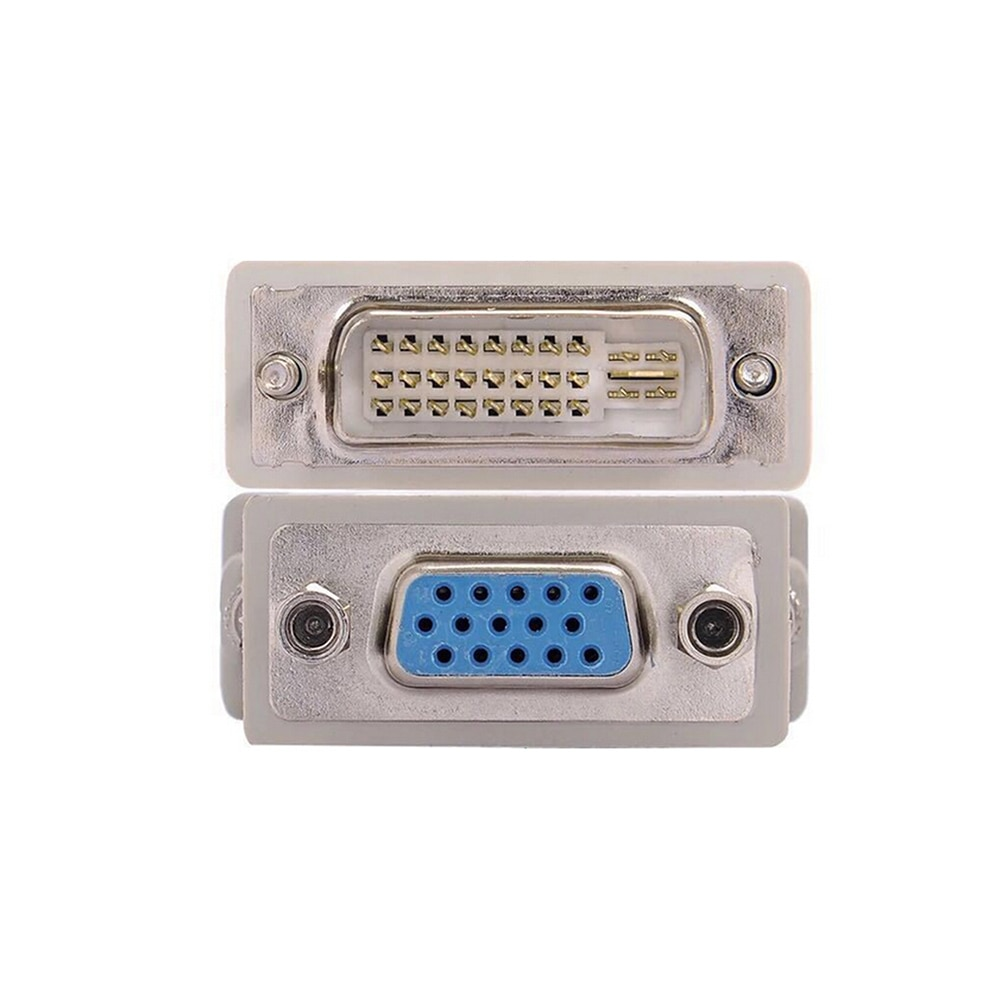 1 шт. DVI D папа к VGA гнездо адаптер конвертер VGA к DVI/24 + 1 Pin папа к VGA Женский адаптер конвертер