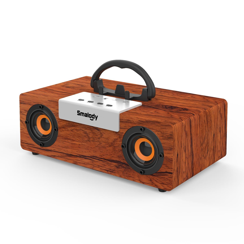 30 واط قوة عال باس سمّاعات بلوتوث قابل للنقل خشبيّ مكبر الصوت اللاسلكي ستيريو خارجيّ مضخم صوت مكبّر صوت خشبي موسيقى مضخم صوت