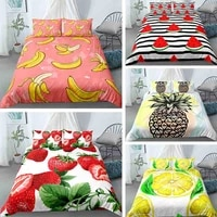 fruit series two or three pieces bedding 3d digital printing quilt duvet cover with pillowcase twin queen king single size