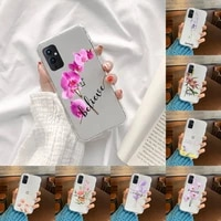 floral personalised phone case transparent for oneplus 9 8 7 7t 8t oppo find x3 x2 reno5 vivo x60 x50 pro meizu 17 16xs