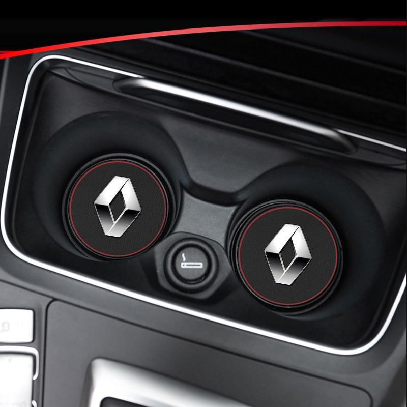 1pcs car interior mats water coaster leather pad for Renault koleos duster megane 2 logan car anti-dirty pad car Accessories